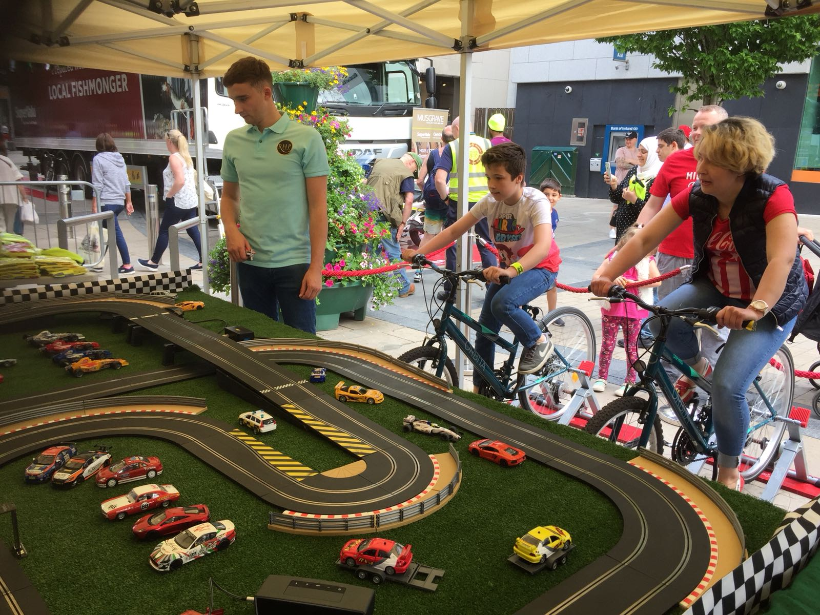 Pedal powered scalextric RHP Events